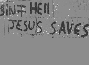 Sin - hell - jesus saves